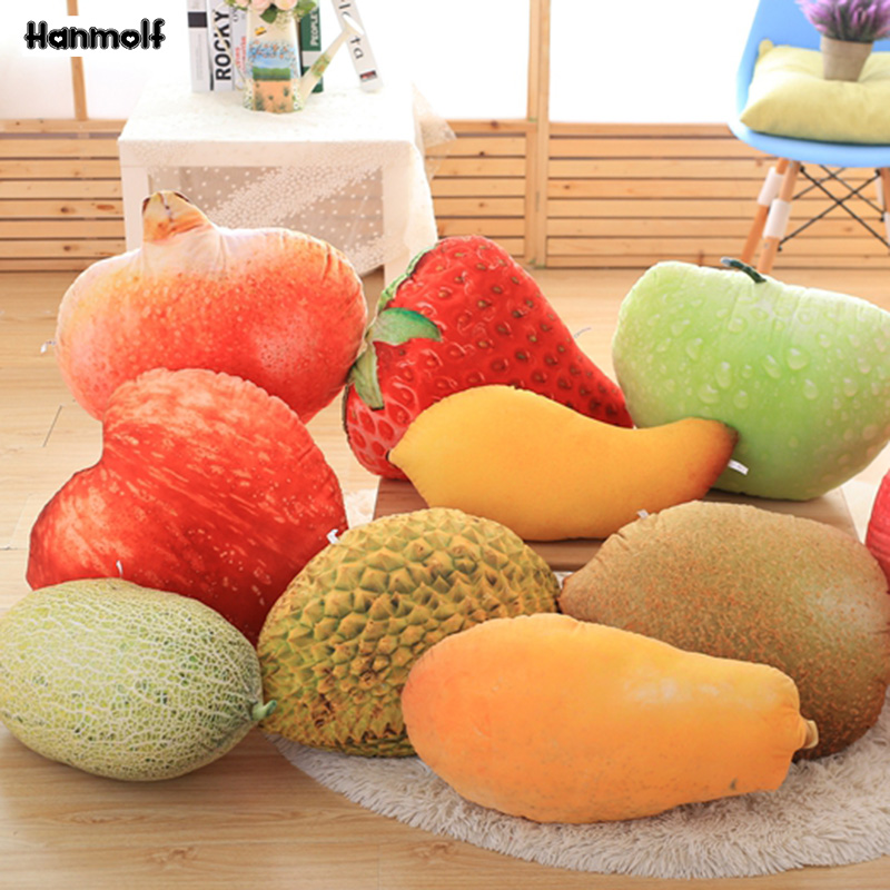 Toys & Hobbies Fruits Salad Plush Pillow Summer Stuffed Food Icecream Pillow Pineapple/watermelon/dragon Fruit/hami Melon Snack Throw Pillow At All Costs