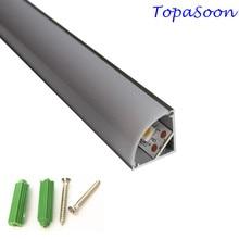 5 20PCS 0 5m length led profile corner profile aluminum channel housing Item No LA