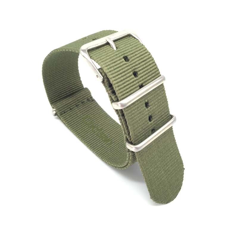 18 20 22 24 mm Brand Army Sports nato fabric Nylon watchband accessories Bands Buckle belt For 007 James bond Watch Strap black in Watchbands from Watches