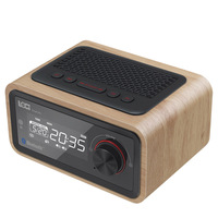 H90 Retro Multifunction Wooden Speaker Subwoofer FM Radio Alarm Clock AUX TF Card USB Disk With Remote Control (Basic Edition)