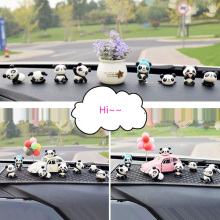 8PC Personality Panda Car Jewelry Ornaments Cute Car Decoration High-end Car Central Control Interio