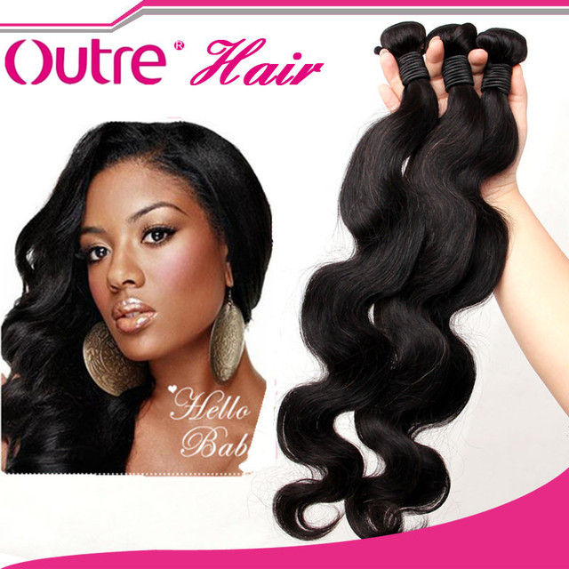 Brazilian Virgin Hair Body Wave Outre Hair Products 100 Human Hair