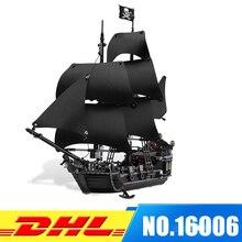 DHL LEPIN 16006 Piratas del Caribe La Perla Negro Los Bloques huecos Fijaron 4184 Precioso Niño Juguete Educativo Para Los Niños juego