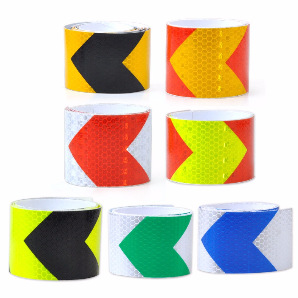 Night Reflective Safety Warning Conspicuity Tape Strip Arrow Sticker car styling car styling 2