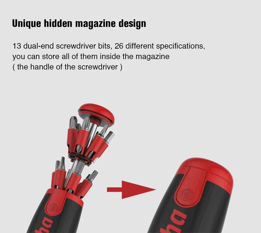 Xiaomi Mijia Wiha Daily Use Screw driver Kit 26-in-1 screwdriver Precision Magnetic Bits Kits Box repair accessory Smart Home
