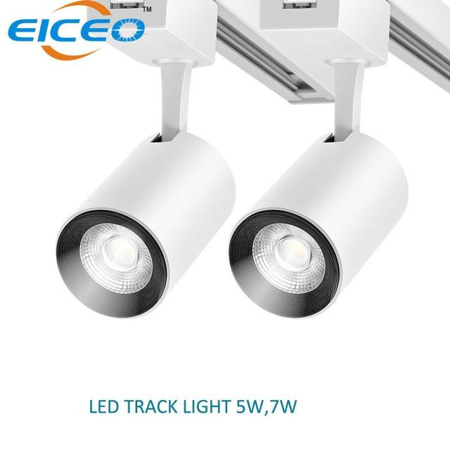 2018 New LED Track Light Spotlights 5W 2pcs/lot High Brightness SMD Chips Aluminum Ceing Rail Track Light Replace Halogen Lamps