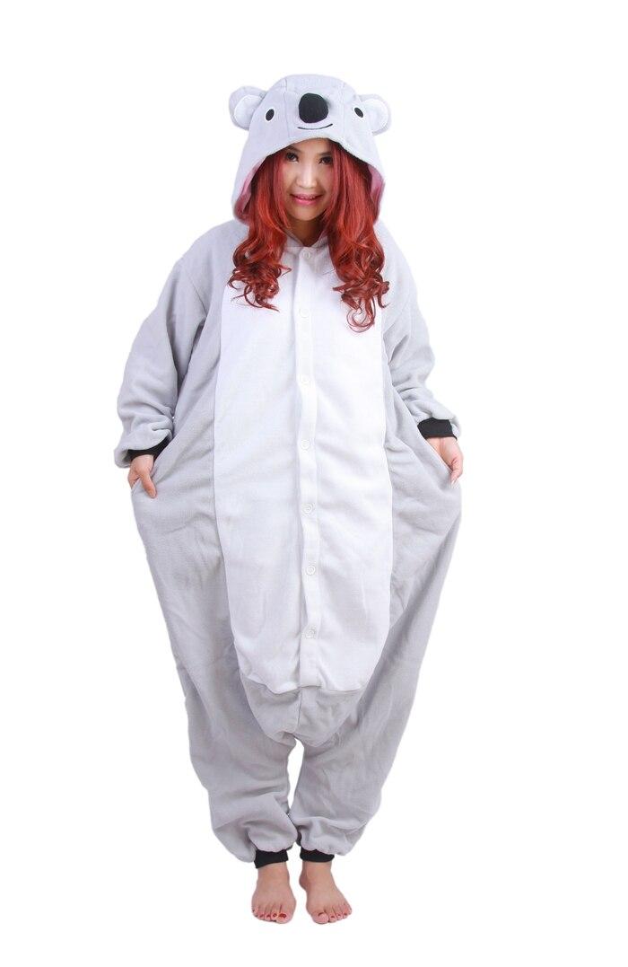 Unisex Fleece Adult Koala Onesies Animal Cosplay Costume Halloween Xmas Pajama