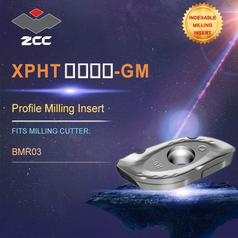 ZCC.CT lathe inserts XPHT-GM for indexable profile milling tool BMR03 for profile milling indexable milling tools quality assurance profile milling cutter tools bmr03 025 xp25 m indexable milling cutter for carbide insert xpht25r1204