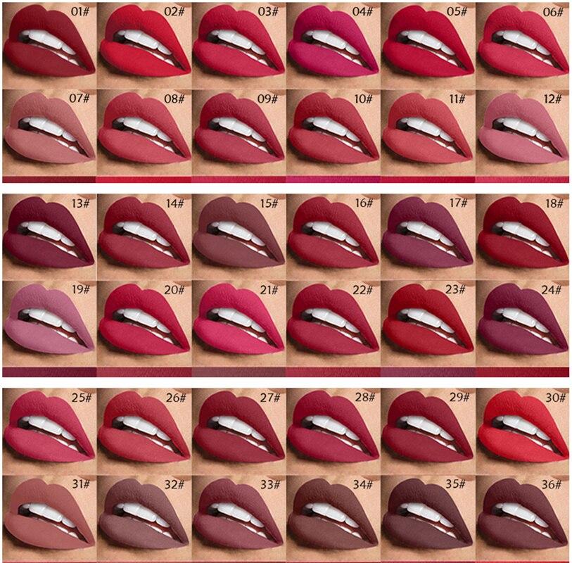 En gros 24 pièces/ensemble 42 couleur hydratant mat rouge à lèvres étanche rouge à lèvres longue durée rouge à lèvres pour les femmes outils de maquillage des lèvres