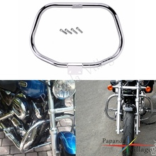 Papanda Motorbikes Steel Chrome 1.25 Crash Bar Engine Guard Protection for Harley Sportster 883 1200 2004-Later