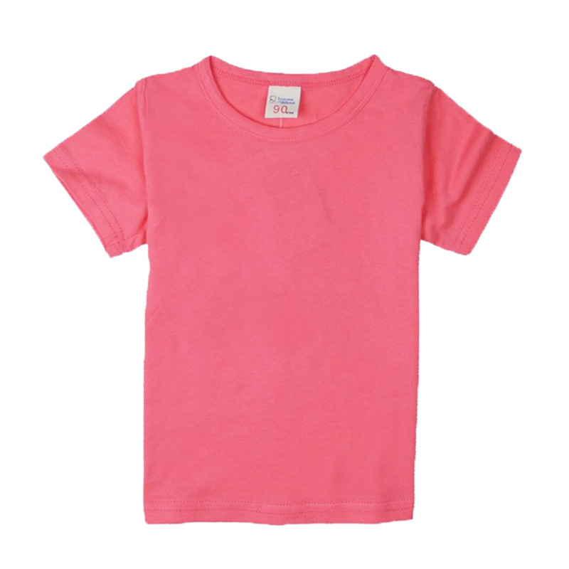 Baby Boy Pure Color T-shirt 2018 Summer Boy Girl Clothes Children Short Sleeves Cotton White T-shirts Tops T Shirt Kids