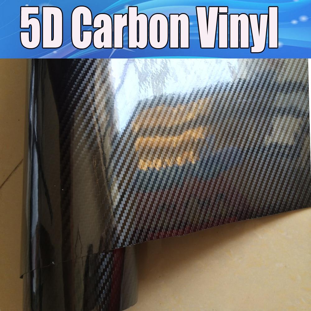 Ultra Gloss 5d Carbon Fiber Vinyl Wrap Glossy 5d Carbon