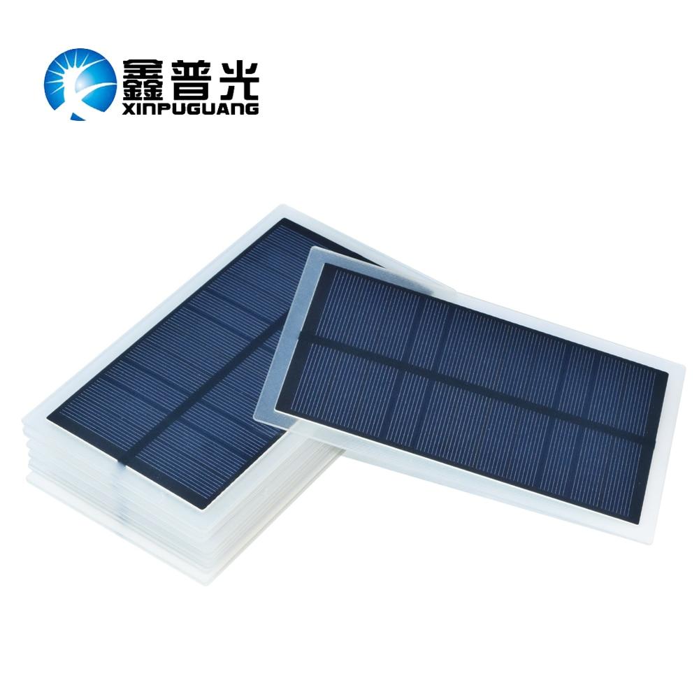 Xinpuguang 10pcs 1.75W 5.5V PET laminated solar panel monocrystalline silicon solar cell for solar folding bag light toys