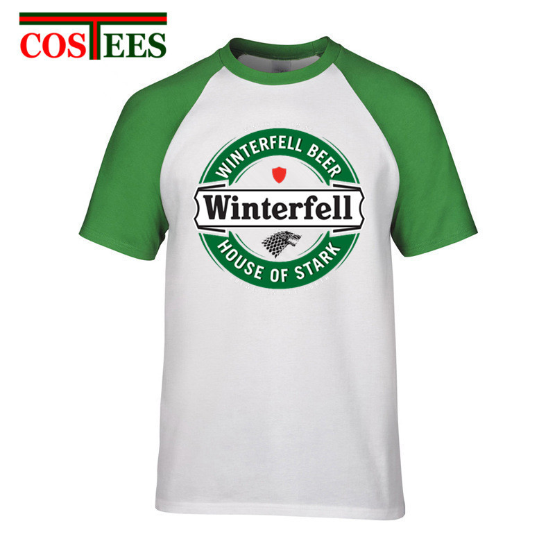 A Song of Ice and Fire House Lannister T-shirts short sleeve Game Thrones stark shirts O-neck Printed Winterfell Tee Shirt Homme