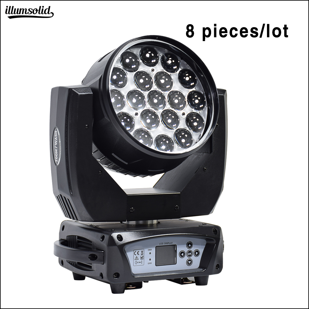 19x15w rgbw led wash zoom moving head light high quality supplier 8pcs lot