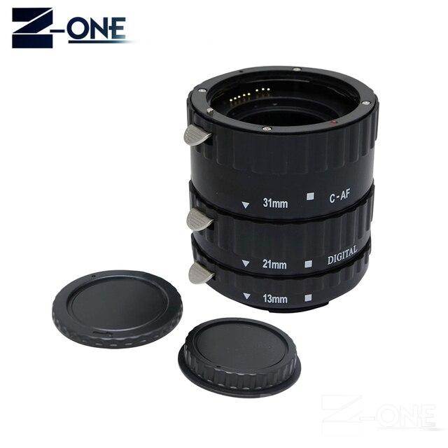 Anneau de Tube dextension Macro AF noir en métal TTL pour Canon EOS EF EF-S 60D 7D 5D II 550D 500D 450D 400D 350D 300D 100D