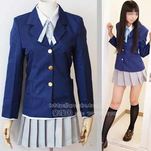 Young Girl School Uniform Akiyama Cos Clothes Leveling Ruler Uniform Cosplay Anime -1589