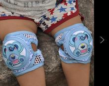 Adjustable dimension Summer kids Breathable Mesh Cotton Kneepads for Children Crawling dance motion toddlers