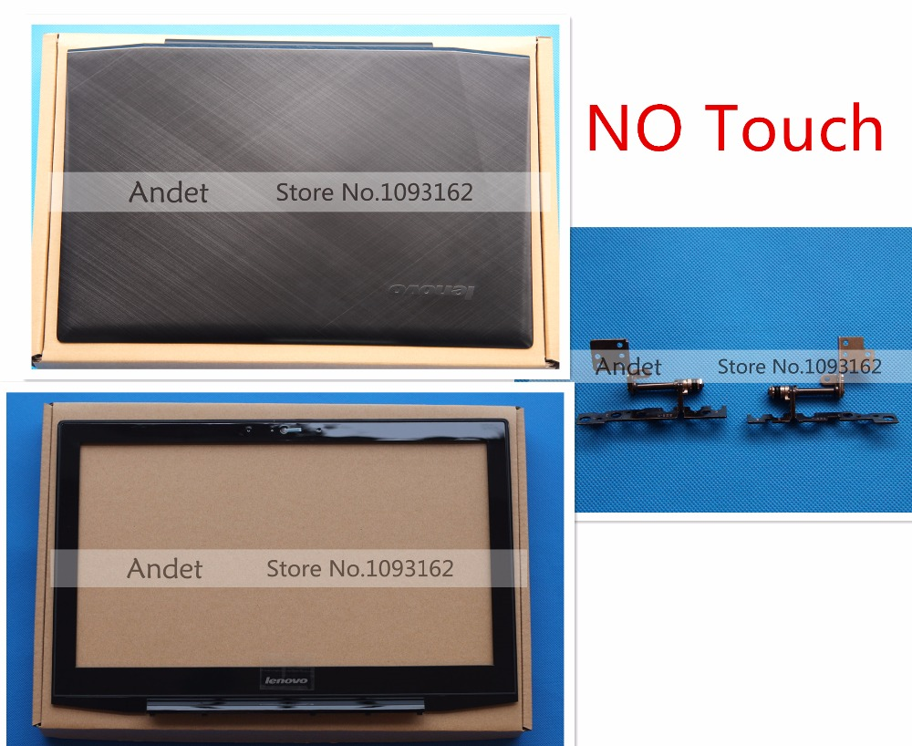 New Original Lenovo Y50 Y50-70 15.6 LCD Top Back Cover Rear Lid + Bezel No Touch Hinge Set AM14R000400 AM14R000900 new original lenovo ideapad z500 lcd rear cover back top case lid white no touch 90202122 ap0sy000130