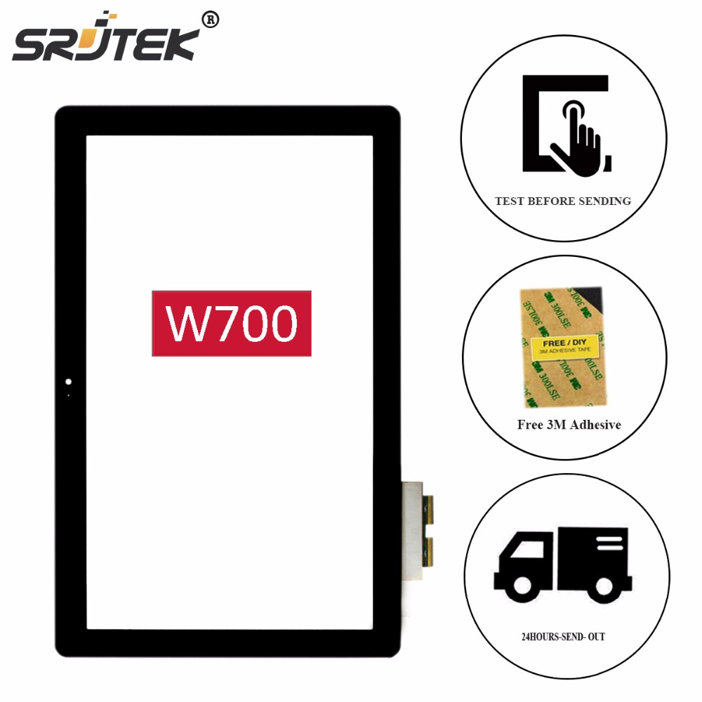 Srjtek 11.6 Parts for Acer Iconia W700 Digitizer Touch Screen Glass Panel Sensor for Windows 8 Tablet PC Replacement Black original new 10 1 inch touch panel for acer iconia tab a200 tablet pc touch screen digitizer glass panel free shipping