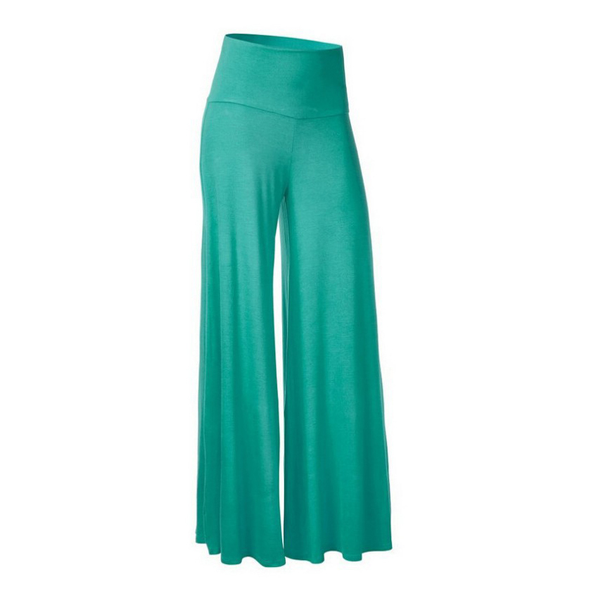 Plus Size Hot Sale Solid Women Wide Leg Casual Loose Palazzo Trousers Elegant High Waist Pants New Arrivals 8 Colors Ladies
