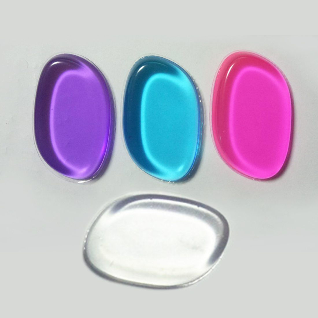 Cosmetic Puff Newest 1pc Ellipse Washable Soft Jelly Silicone Gel Makeup Foundation Puff For Make Up Powder Liquid Cream Cosmetic Tool