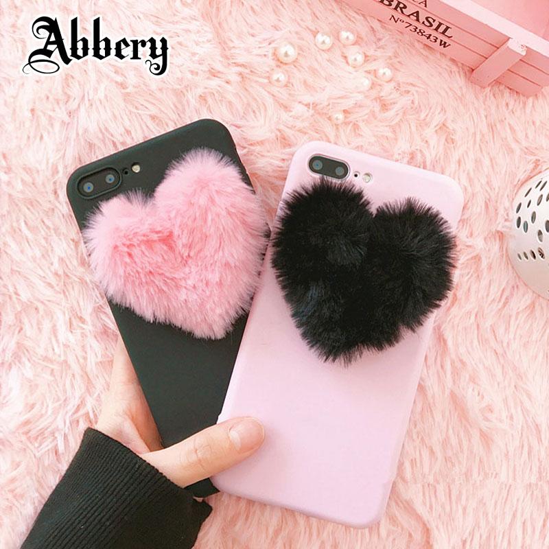 3D Love Plush Cute Soft Nap Case for Huawei P8 P9 P10 P20 Mate 10 lite