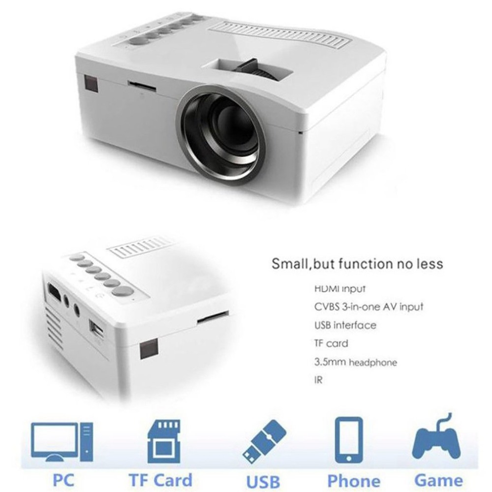 T16 Home Theater Mini Projector Portable Projection Part HD Display For Home Movie Time Parties Sports Events TV SeriesT16 Home Theater Mini Projector Portable Projection Part HD Display For Home Movie Time Parties Sports Events TV Series