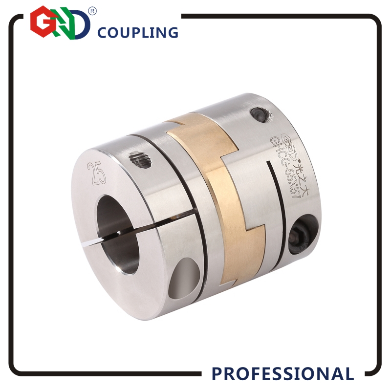 Power Transmission Parts GHCG stainless steel rigidity cross slider clamping series shaft couplings power transmission parts shaft couplings gfz d55xl78