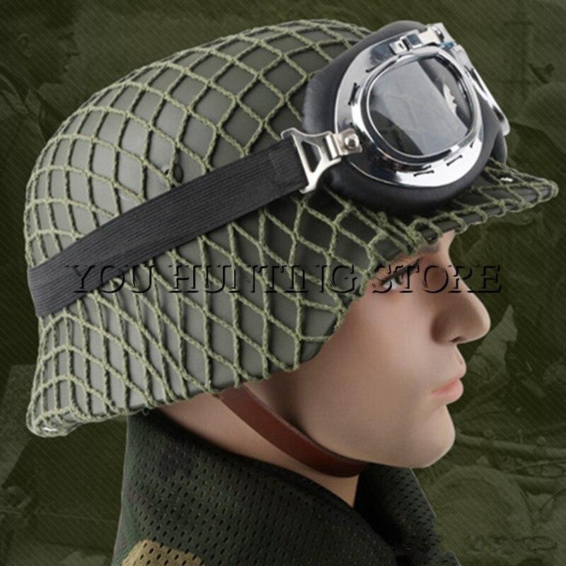 Casque tactique classique M35 burgomaster OD Airsoft casque armée allemande casque en acier Luftwaffe
