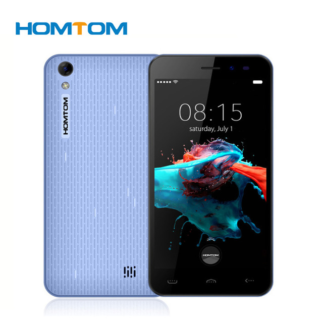 Original HOMTOM HT16 5.0 Inch HD Screen Android 6.0 MTK6580 Quad Core Smartphone 3000mAh Cell Phone 1GB RAM 8GB ROM Mobile Phone