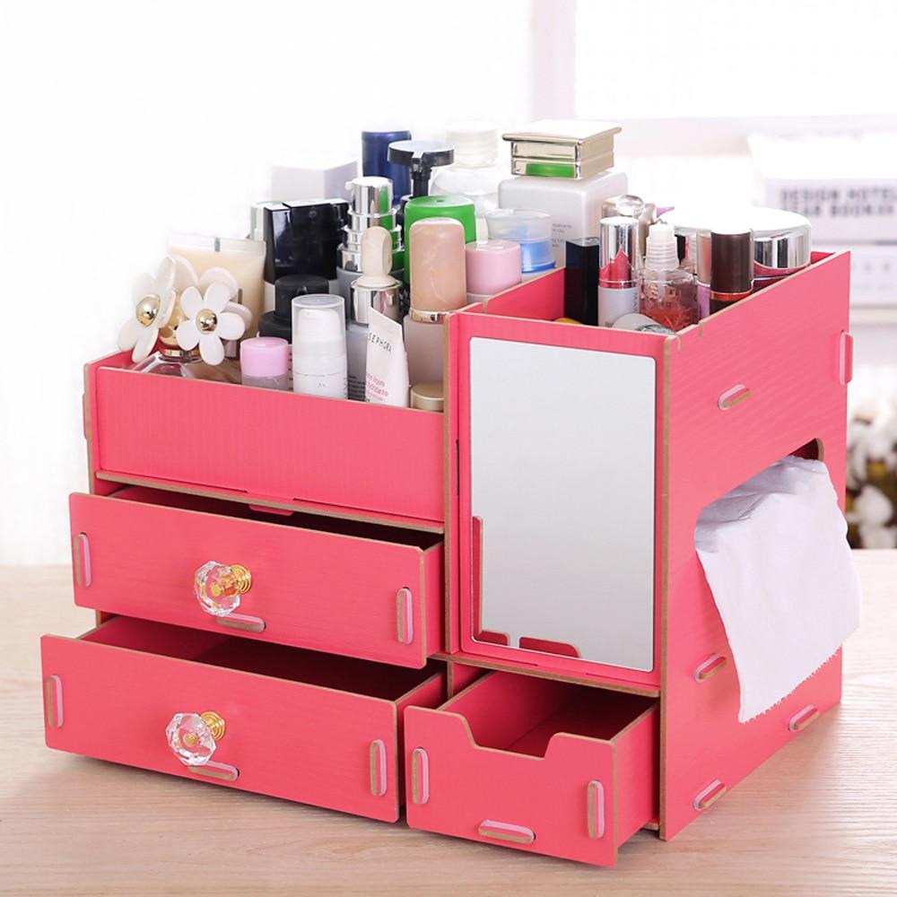 Aliexpress.com : Buy Fashion DIY Wood Cosmetic Organizer with ...