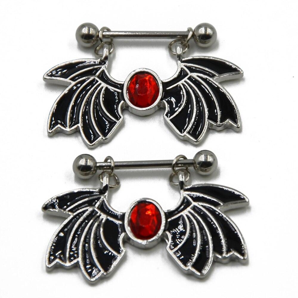 Bat Nipple Rings