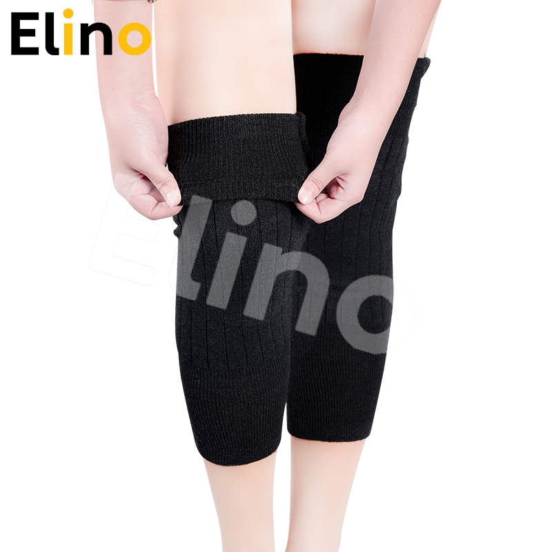 Elino Elastic Knee Warm Pads Safety Knee Support Sleeve Anti-Wind Knee Bandage Prevent Arthritis Sports Gym Injury Warm Kneepads
