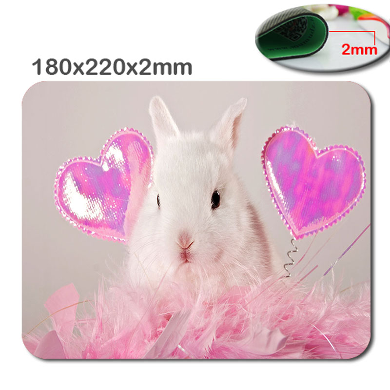 Hot Sale Animal Lovely Rabbit High Quality Durable Fashion Rubber Rectangular Computer Gaming Mouse Pad Gamer Play Mats