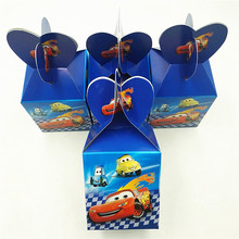 6pcs 95car Cartoon Party Kids Favor Candy Box Wedding Kids Birthday Party Decorations Suppliers Baby Favor Disposable 05