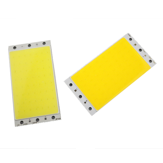 DC 12-14v rectangle cob led chips 10w Source warm white/cool white DIY 94*50mm 12V Car Lights Work LED Table Lamp High Quality