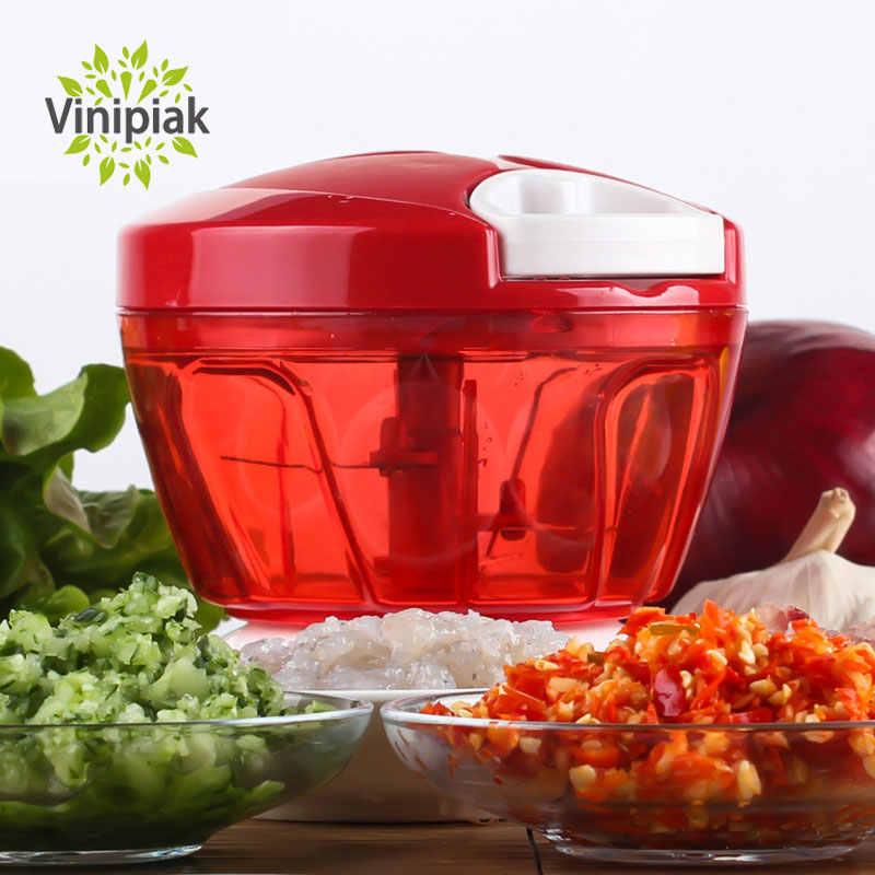 Manual de alho vegetal rápido chopper mão puxar chopper cebola nozes moedor cozinha frutas processador alimentos portátil picador
