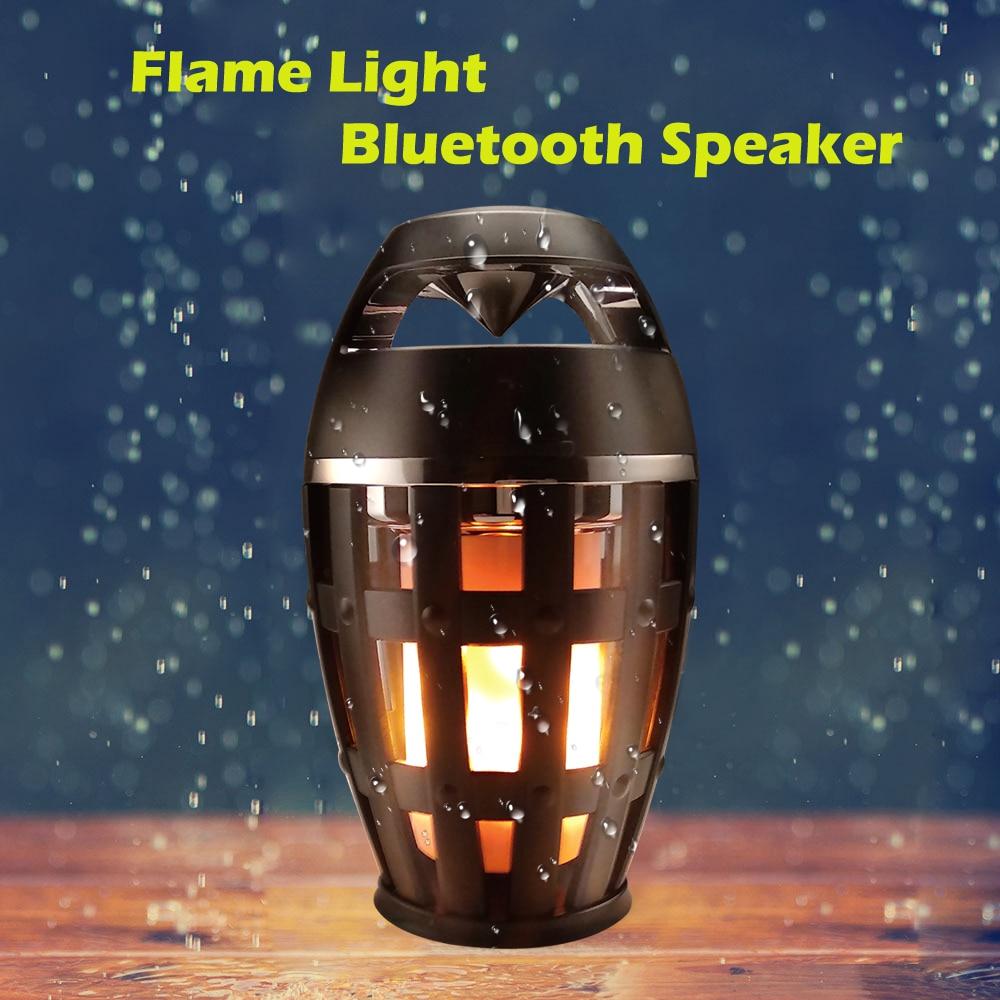 becostar led chama lampada alto falante bluetooth estereo cintilacao luz da noite ao ar livre acampamento