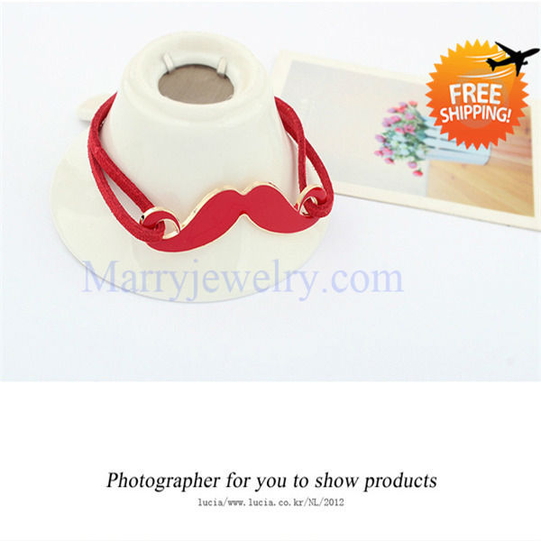 Korean Version Funny Lovely Mustache Jewelry Enamel Bracelet Sweet for Children And Ladies (No.7272-9) No Min Order