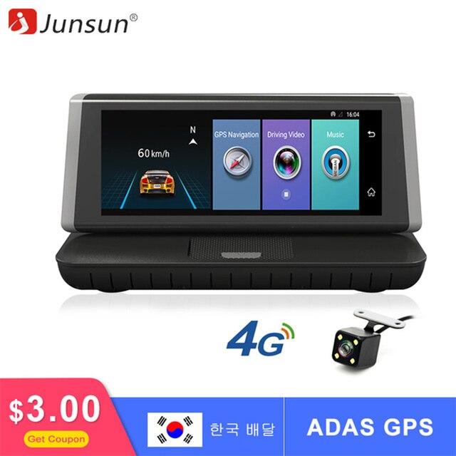 Junsun E35 видеорегистратор автомобильный Камера 4 г ADAS Android 5.1 FHD 1080 P видео Регистраторы Оперативная память 1 г/Встроенная память 16 г регистратор видеорегистратор с двумя Камера s