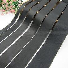 Strap-Tape Harness Fibre-Webbing Dog-Collar Polyester Backpack Ribbon-Band Black Outdoor