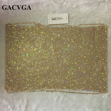 2018 Crystal Gold Metal Crop Top Summer Beach Backless Short Halter Tops Sexy Party Camis Bralette Women Cropped Tank Top