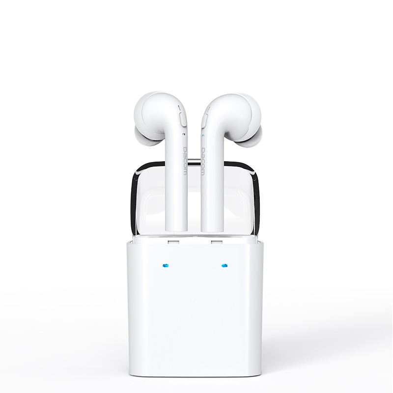 New Dacom TWS True Headphone Wireless Bluetooth Headset Mini Bluetooth 4.2 Earpiece Earbuds In-Ear Earphone For Iphone 7 Android 2016 new 2 in1 mini portable bluetooth wireless sport headphone usb car charger dock car in ear earphone for iphone 7 6s android