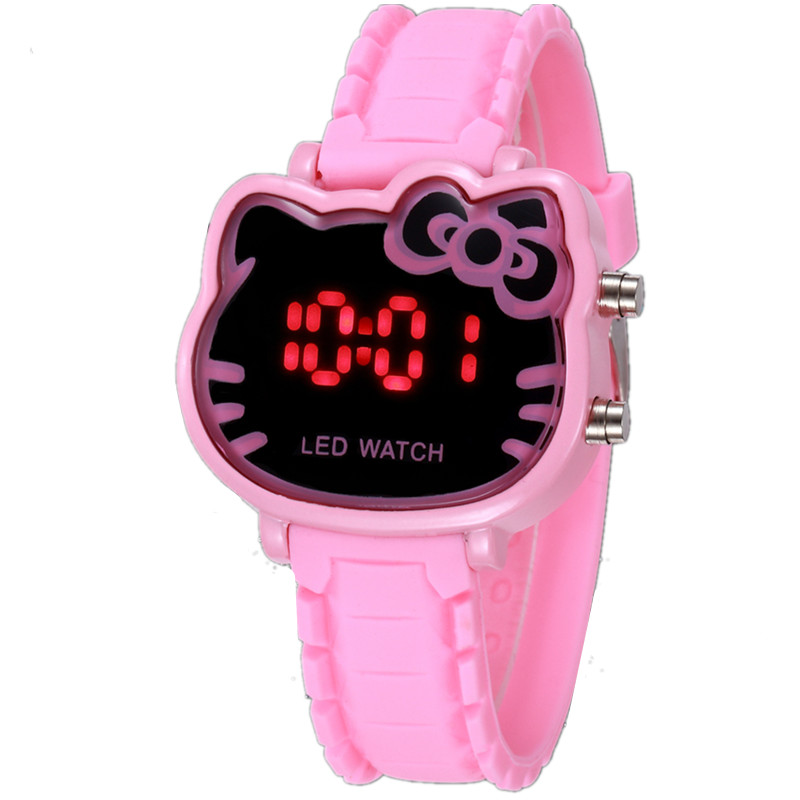 Watches Smart New Women Watch Cute Kitty Pattern Fashion Rhinestone Quartz Watches Casual Cartoon Leather Clock Girls Kids Wristwatch Femme