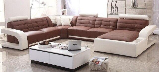 Moderne sofa set lederen sofa met sofa set ontwerpen voor sofa set ...