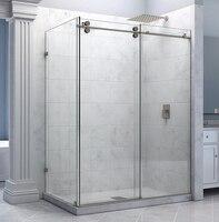 Frameless Sliding Shower Door Hardware With Return Panel Shower Hardware