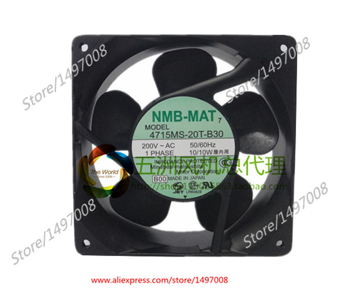 Free Shipping For  NMB 4715MS-20T-B30, B00 AC 200V 10W, 120x120x38mm 0-wire Server Square cooling fan free shipping for nmb 4715ms 10t b40 b00 ac 100v 14w 120x120x38mm server cooling square fan