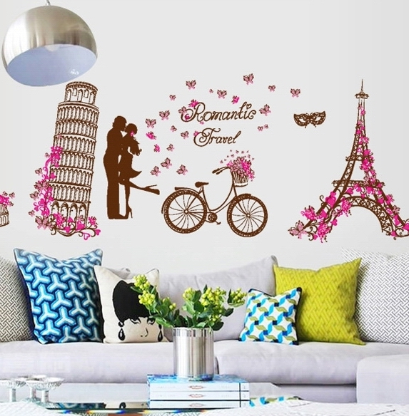 Photo collection girls eiffel tower wallpaper for Colocar papel mural