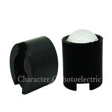100pcs IR 1W 3W High Power LED lens 14.5mm 16mm 10degree 60degree 90degree len with black holder For CCTV DIY